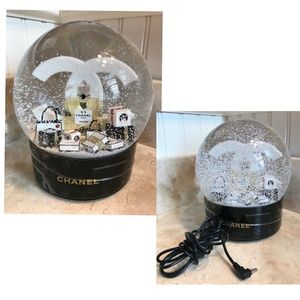 Giant CHANEL XL Snowglobe w/ Lithium Ion Battery
